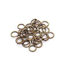 Load image into Gallery viewer, 200pcs 3/4/6/7/8/10/12/14mm Metal Split Jump Rings (9 Colors)