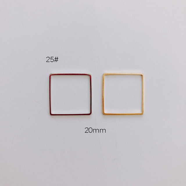 10 Pieces Geometric Metal Frame Connector for Jewelry DIY