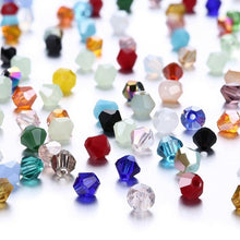 Load image into Gallery viewer, 4mm 100 Pieces Czech Bicone Glass Beads (33 Colors)