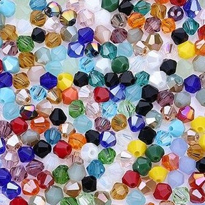 4mm 100 Pieces Czech Bicone Glass Beads (33 Colors)