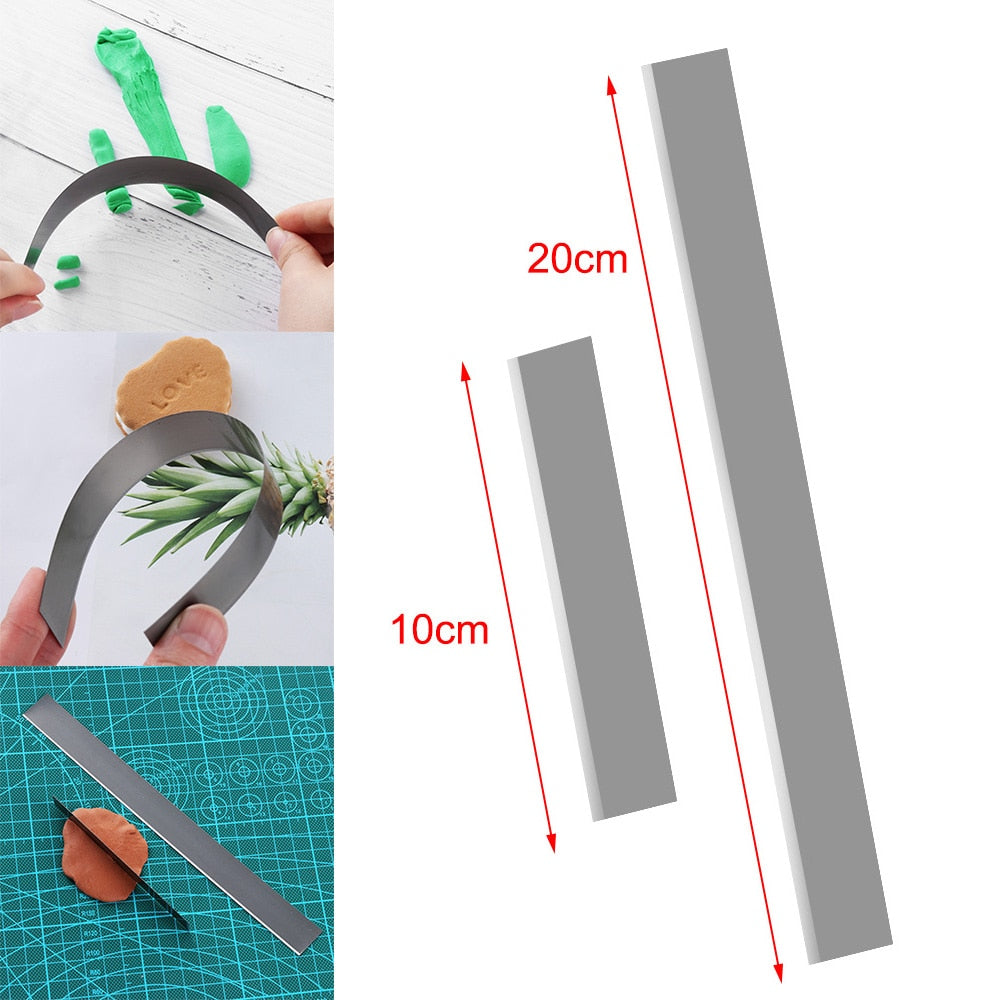 2 Piece Flexible Long Blades for Polymer Clay DIY