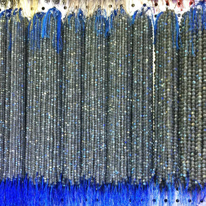 4/5/6/7/8mm 15 inch Strand Natural Labradorite Moonstone Beads