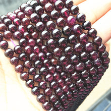Load image into Gallery viewer, 4/5/6 mm 15.3 inch Strand Natural Dark Garnet Stone Round Bead
