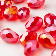 Load image into Gallery viewer, 6x8mm 30 Pieces Teardrop Glass Crystal Briolette Beads (33 colors)