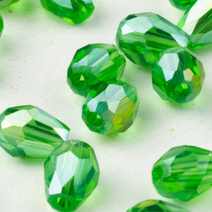 6x8mm 30 Pieces Teardrop Glass Crystal Briolette Beads (33 colors)