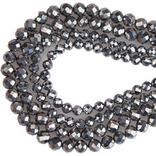 Load image into Gallery viewer, 2mm/3mm/4mm/5mm Faceted Iron Terahertz Round Beads