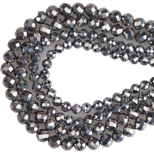 2mm/3mm/4mm/5mm Faceted Iron Terahertz Round Beads