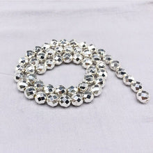 Load image into Gallery viewer, 2/3/4/6/8/10/12mm Round Faceted Natural Hematite Beads One Strand