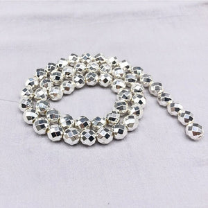 2/3/4/6/8/10/12mm Round Faceted Natural Hematite Beads One Strand