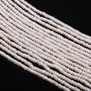 2.5-3mm 13 Inch Strand Natural Freshwater Pearl Beads