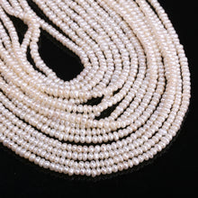 Load image into Gallery viewer, 2.5-3mm 13 Inch Strand Natural Freshwater Pearl Beads