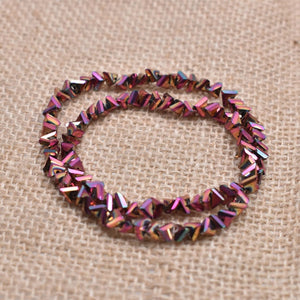 Triangle Glass Beads 6mm 100pcs 41Colors