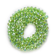 Load image into Gallery viewer, 4/6/8mm 50 Pcs Light Green AB Color Crystal Glass Round Beads
