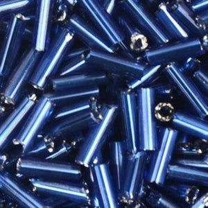 2*6.5mm 500pcs Czech Cylindrical Silver Lined Glass Bugle Beads (14 Colors)