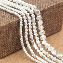 Load image into Gallery viewer, 925 Silver Handcrafted Multi-faceted Beads