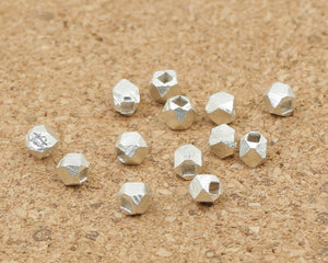 925 Silver Handcrafted Multi-faceted Beads