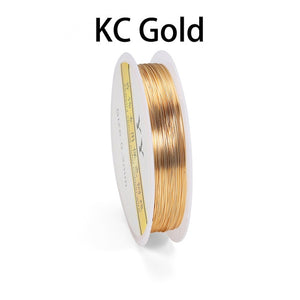 Copper Jewelry Wire (18-32 Gauge) (Gold/KC Gold/Rose Gold/Light Gold/Silver)