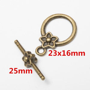 10set Antique Bronze Color Alloy Metal Toggle OT Clasps