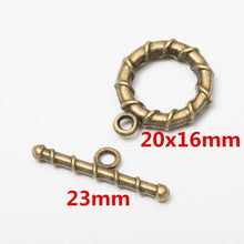 Load image into Gallery viewer, 10set Antique Bronze Color Alloy Metal Toggle OT Clasps