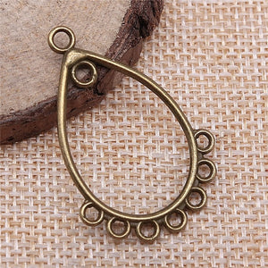 10pcs Antique Bronze Vintage Earring Connector Charms