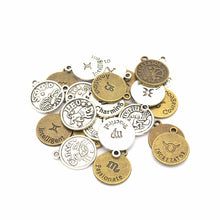 Load image into Gallery viewer, 12pcs/set Antique Bronze 12 Zodiac Sign Charms Pendants