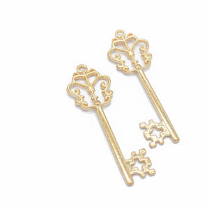 10pcs Vintage Key Charms Pendants