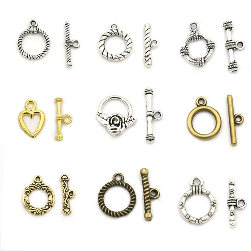 2-3cm 10 Sets OT Clasp/Toggle Clasp for Bracelet and Necklace Jewelry DIY (18 Styles)