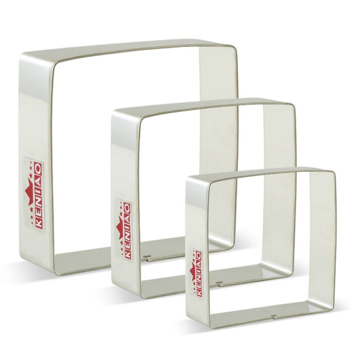 3Pcs Stainless Steel Square Cookie Cutter Set