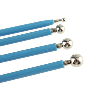 4 Pieces Stainless Steel Polymer Clay Modeling Ball Tool Set