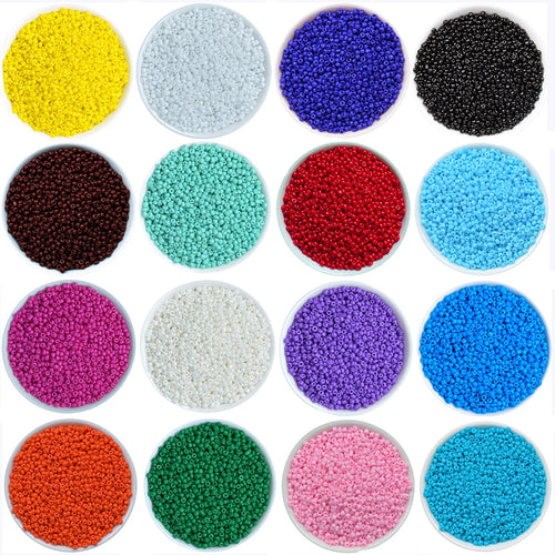 2mm Glass Solid Color Seed Beads (45 Colors)