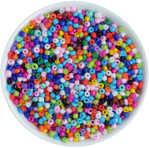 1000pcs 2mm Glass Solid Color Seed Beads (45 Colors)