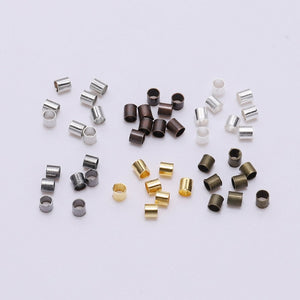 1.5/2.0/2.5 mm 500pcs Round Crimp Beads Tube (7 Colors)