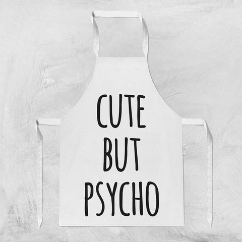 Cute But Psycho Apron For Women Hostess Gift Apron