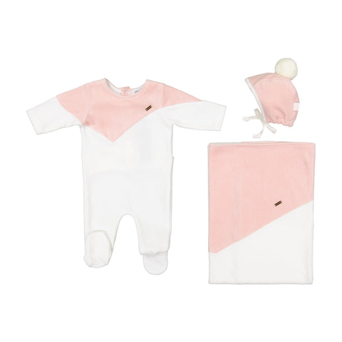 Cream Bebe V-Cut Footie