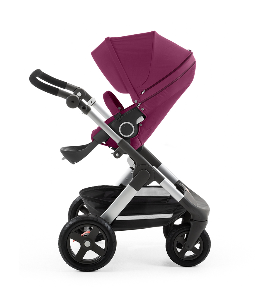 Stokke Trailz Stroller - Purple - With Bassinet