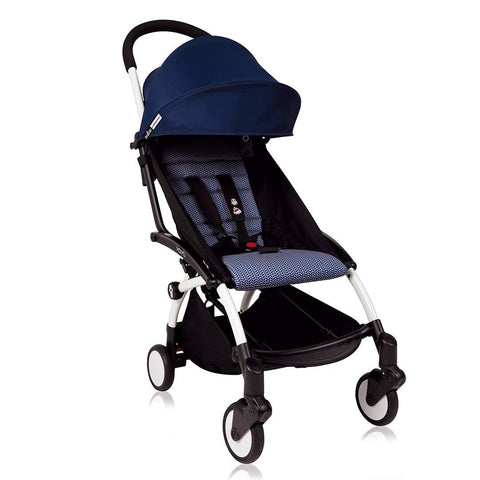 Babyzen Yoyo Complete Stroller - White Frame - Air France Blue