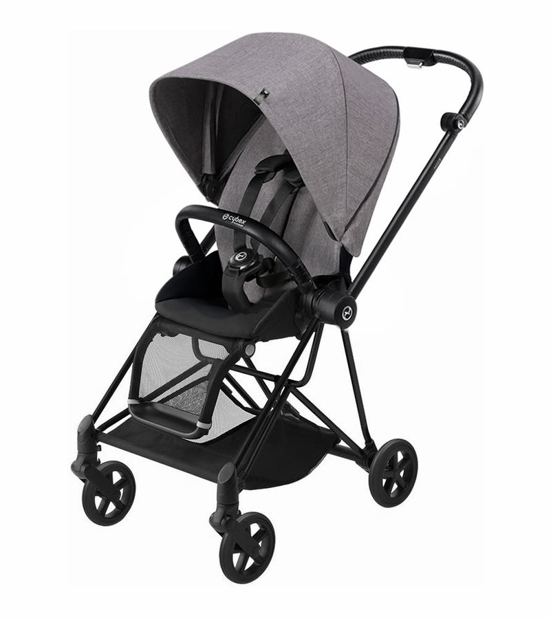 Cybex Mios Complete Stroller - Black Frame - Manhattan Grey Plus