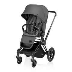Cybex Priam Complete Stroller - Black Frame - Manhattan Grey