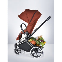 Cybex Priam Complete Stroller - Chrome Frame - Manhattan Grey