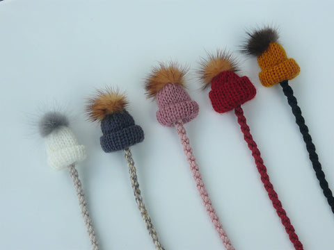 Knots NY Pom Pom Hat Pacifier Clip