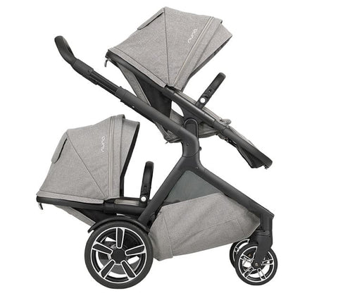 Nuna Demi Grow Double Stroller - Frost (Includes 2 Seats)
