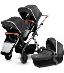 Silver Cross Wave Double Stroller In Granite