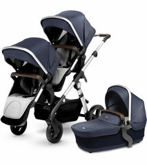 Silver Cross Wave Double Stroller (Includes Two Seats & One Bassinet)