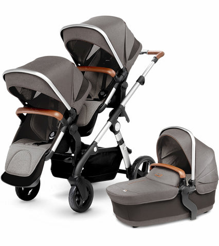 Silver Cross Wave Double Stroller In Sable