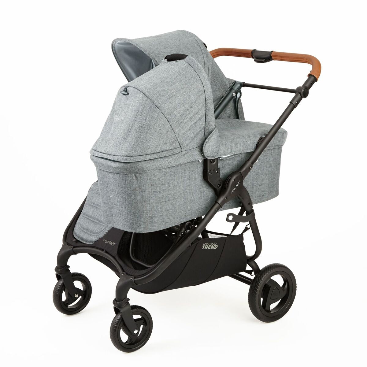 New Valco Baby Snap Trend Duo Bassinet - Grey Marle