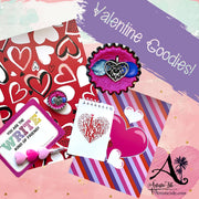 Valentine themed items and colors