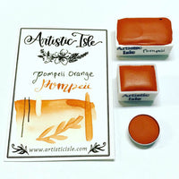 Pompeii Orange, orange, light orange, handcrafted , watercolor paint