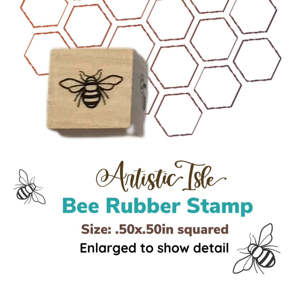 Bee Rubber Stamp, stamp