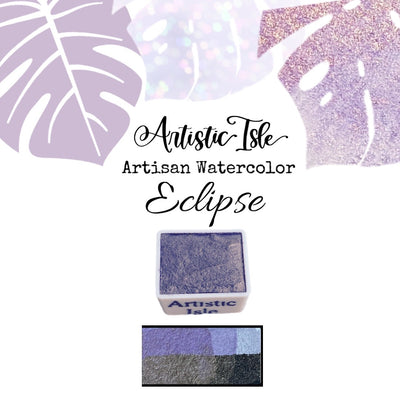 Eclipse, Purple Gold , Metallic, Purple , Shimmer, metallic , handcrafted , watercolor paint