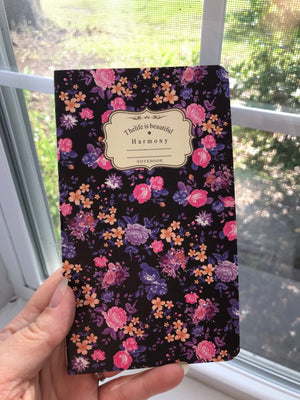 Floral Journal, journal, purple